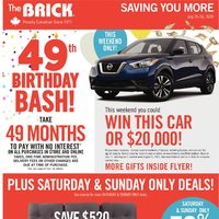 The Brick - Saving You More - 49th Birthday Bash! Flyer