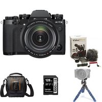 Fujifilm X-T3 Mirrorless Camera Body With XF 16-80mm Lens Kit, Compact Bag, Mini Tripod, Rode Compact In-Camera Microphone And 128GB Memory Card