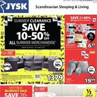JYSK - Summer Clearance Flyer