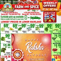 Farm and Spice - Weekly Offers Flyer