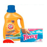Arm & Hammer Laundry Detergent, Fleecy Sheets or Liquid Fabric Softener