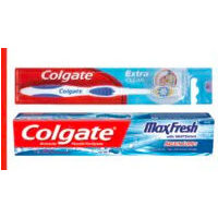 Colgate Maxfresh Toothpaste, Twister or Extra Clean Manual Toothbrush