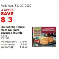 Greenfield Natural Meat Co. Pork Sausage Rounds