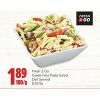 Fresh 2 Go Greek Feta Pasta Salad