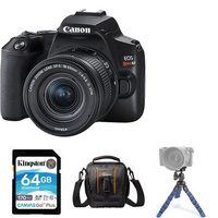 Canon EOS Rebel SL3 DSLR With EF-S 18-55mm IS STM Lens Kit, Mini Tripod, 64GB Memory Card And Compact Bag