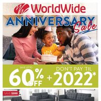 Worldwide Furniture - Anniversary Sale Flyer