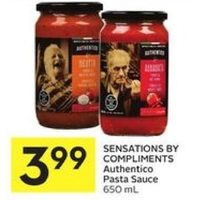 Sensations By Compliments Authentico Pasta Sauce
