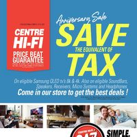 Centre HIFI - Anniversary Sale	 Flyer
