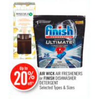 Air Wick Air Fresheners or Finish Dishwasher Detergent