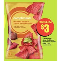 Compliments Naturally Simple Beet & Corn Tortilla Chips