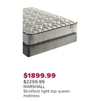 Marshall Stratford Tight Top Queen Mattress
