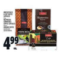 Irresistibles K-cup Coffee Capsules, Nespresso, Compatible Coffee Capsules Or Ground Coffee
