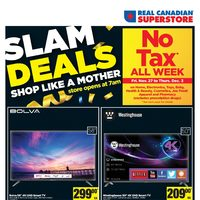 Real Canadian Superstore - Slam Deals - No Tax All Week Flyer
