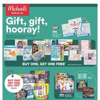Michaels - Weekly - Gift, Gift Hooray! Flyer