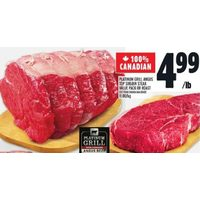 Platinum Grill Angus Top Sirloin Steak Value Pack Or Roast Beef