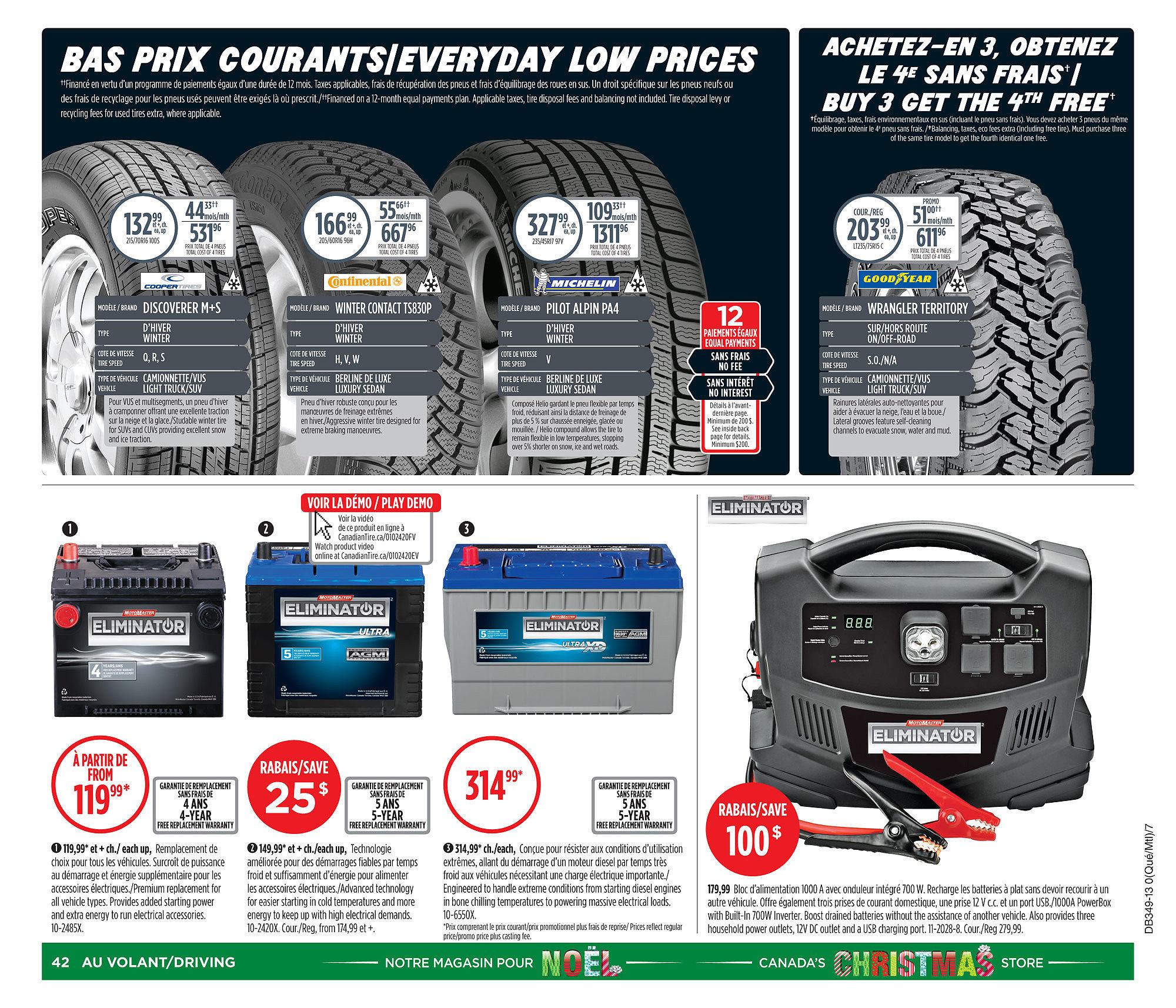 Canadian Tire Weekly Flyer Weekly Flyer Nov 29 Dec 5  # Buffet Tv Suspendu