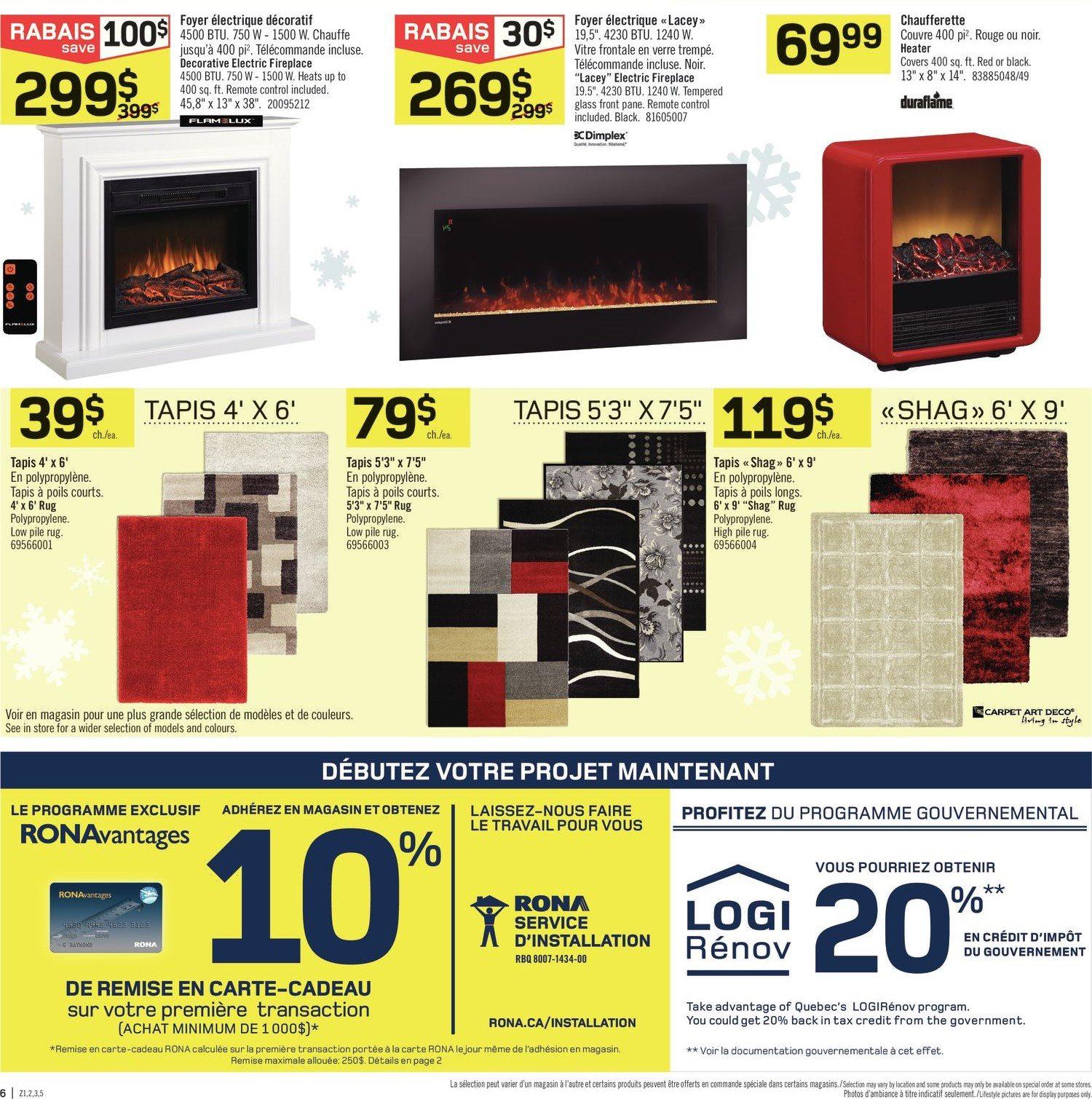 Carte Rona Accord D.Rona Weekly Flyer Super Week End De 4 Jours L Entrepot Nov 27