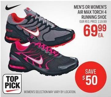 7c174399f2 Sport Chek Men's Or Women's Nike Air Max Torch 4 Running Shoe - $69.99  ($50.00 off) Men's Or Women's Nike Air Max Torch 4 Running Shoe - $69.99