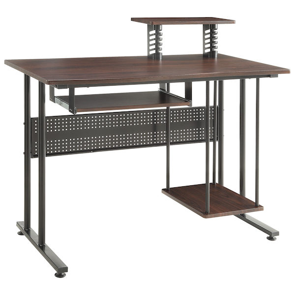 Best Desmond Transitional Computer Desk Espresso Only Redflagdeals Com