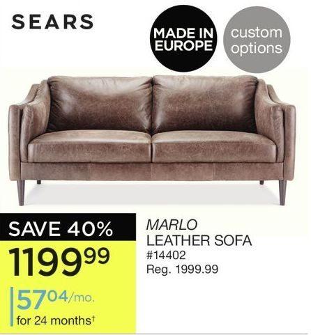 Sears Leather Sofa Home The Honoroak