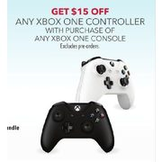 Any Xbox One Controller w/ Purchase - $15.00 off