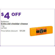 Balderson Extra-Old Cheddar Cheese 1kg - $4.00 off