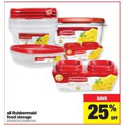 All Rubbermaid Food Storage - 25% off