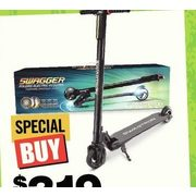 Swagtron Swagger E-Scooter - $319.00