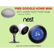 Free Google Home Mini w/ Any Nest Purchase