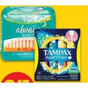 Always Pads, Liners or Tampax Tampons - $3.47