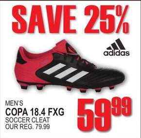 best sneakers fb464 38a05 National Sports Adidas Mens Copa 18.4 FXG Soccer Cleat - 59.99 (25% off)  Adidas Mens Copa 18.4 FXG Soccer Cleat