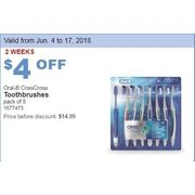 Oral-B CrissCross Toothbrushes - $10.99 ($4.00 off)