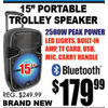 "15"" Portable Trolley Speaker - $179.99"
