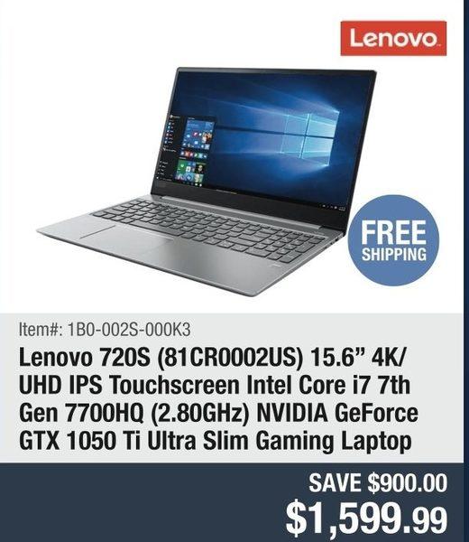Newegg: Lenovo 720S (81CR0002US) 15 6