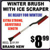 Winter Brush With Ice Scraper  - $8.99