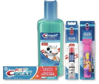 Rexall: Crest Kid's Toothpaste, Mouthwash Or Oral-B Kid's Manual Or