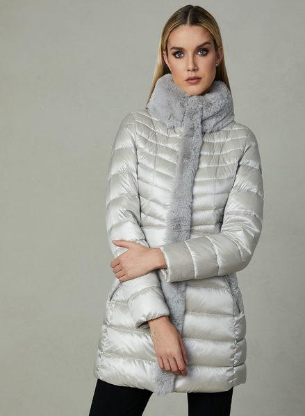 6857ca3f0f649 Melanie Lyne: Karl Lagerfeld - Faux Fur Trim Quilted Coat - RedFlagDeals.com