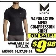 Misson Vaporactive Mens Compression Shirt - $9.98