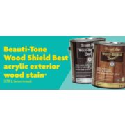 40% Off Beauti-Tone Wood Shield Best Acrylic Exterior Wood Stain
