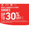 Adidas Asics Men's, Women's & Kid's Shoes - Up to 30% off