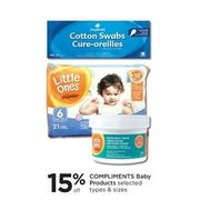 Compliments Baby Products - 15% off