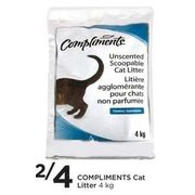 Compliments Cat Litter - 2/$4.00