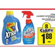 Xtra Laundry Detergent or Oxi Clean - $1.88