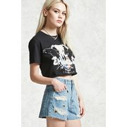 Distressed Grommet Denim Shorts - $16.95 ($16.95 Off)