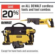 All Dewalt Cordless Tools And Tool Combos  - 20% off