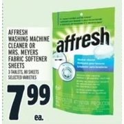 Affresh Wasing Machine Cleaner Or Mrs. Meyers Fabric Softener Sheets  - $7.99