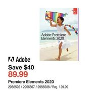 Adobe Premiere Elements 2020 - $89.99 ($40.00 off)