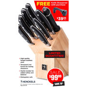 9Pc. Henckels Forged Contour Knife Block Set  - $99.99 (70% off)