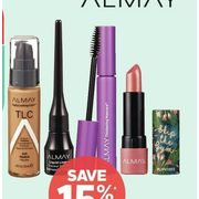 Almay Face, Eye or Lip Cosmetics - 15% off