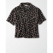 Ae Printed Short Sleeve Button Up Shirt - $22.47 ($22.48 Off)